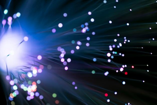 Fondo astratto delle luci di fibre ottiche