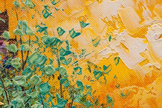 Fondo astratto di arte acrilica della pittura a olio
