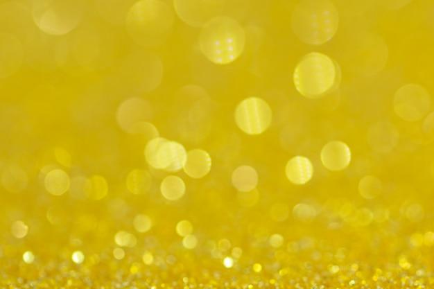Fondo astratto di giallo del cerchio di bokeh