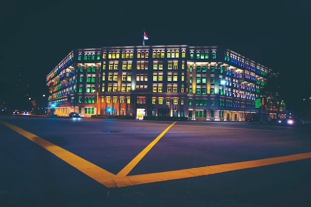 Fondo astratto di struttura di luce notturna della costruzione