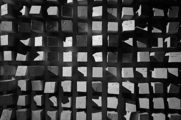 Fondo astratto di struttura in bianco e nero dei quadrati