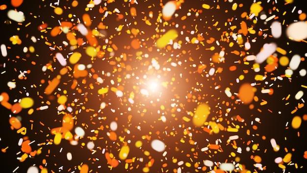 Fondo astratto marrone digitale con esplosioni, onde scintillanti e spazio profondo.