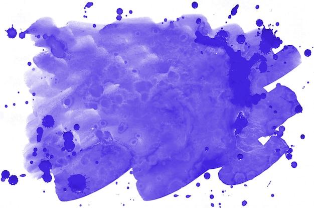 Fondo bagnato del liquido della pittura della spazzola bagnata dell'acquerello viola variopinto