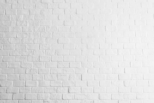 Fondo bianco di strutture del muro di mattoni