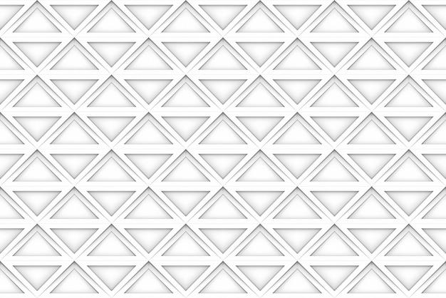 Fondo bianco senza cuciture della parete di progettazione di arte del modello di griglia del quadrato.