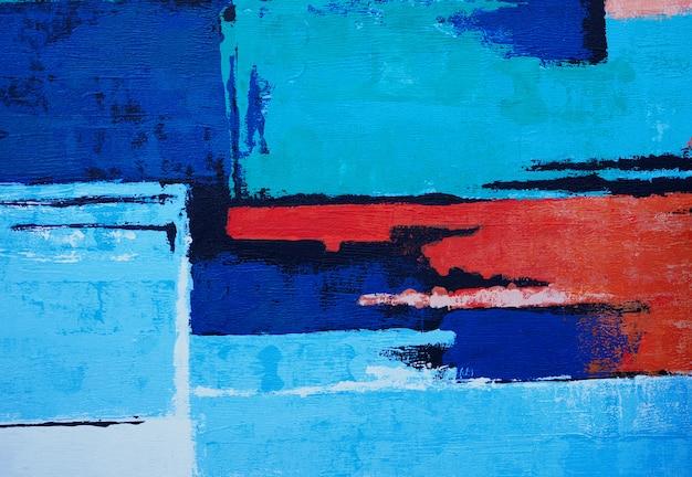Fondo blu dell'estratto di struttura della pittura di forma