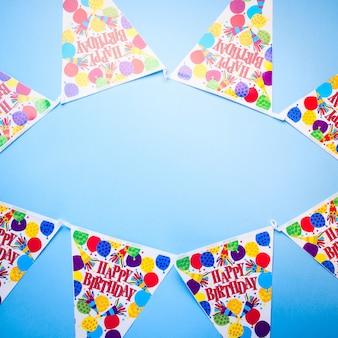 Fondo blu della festa di compleanno