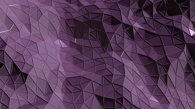 Fondo cristallino triangolare senza cuciture porpora astratto 3d