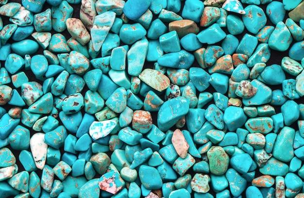 Fondo crudo minerale del turchese, bella struttura blu della pietra di calaite
