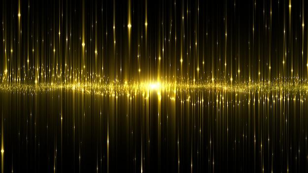 Fondo d'ardore digitale astratto di colore dell'oro della luce al neon.