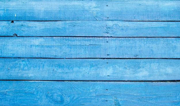 Fondo dei bordi di legno dipinti blu, struttura di legno dipinta