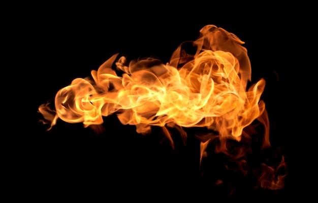 Fondo del nero del fondo dell'estratto del fuoco di calore della fiamma