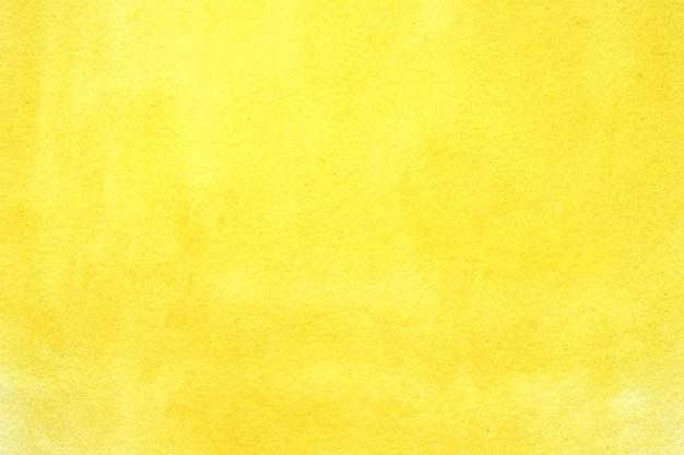 Fondo dell'acquerello, pittura gialla astratta dell'acquerello di arte strutturata