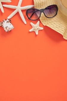 Fondo dell'arancia di concetto di vacanza di vacanza estiva