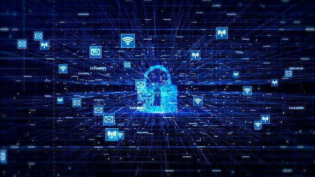 Fondo dell'estratto di concetto della rete di dati e della rete di digital