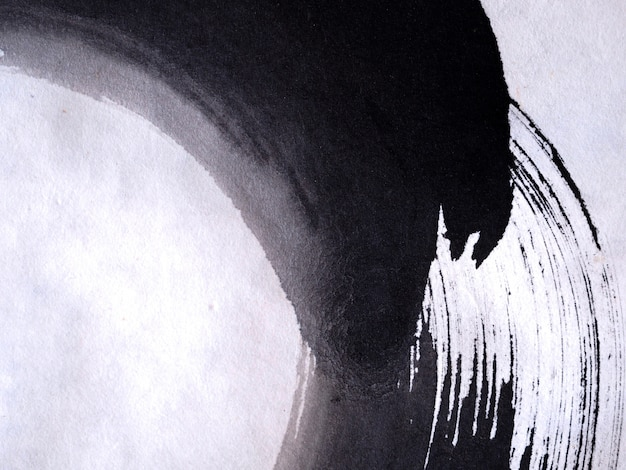 Fondo dell'estratto di struttura di colore del nero del pennello di tiraggio della mano.