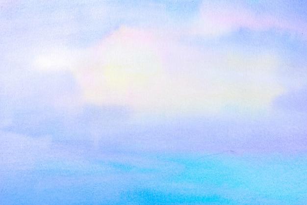 Fondo della pittura della spazzola dell'acquerello con una mano disegnata nella carta