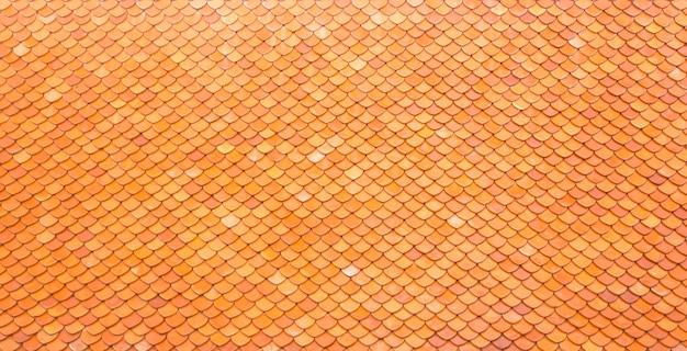 Fondo della tailandia delle mattonelle di tetto dell'argilla