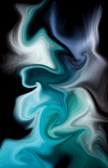Fondo di colori liquidi blu profondo dell'oceano di lusso