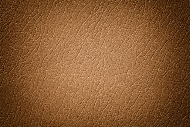 Fondo di cuoio marrone chiaro di struttura con il modello, primo piano