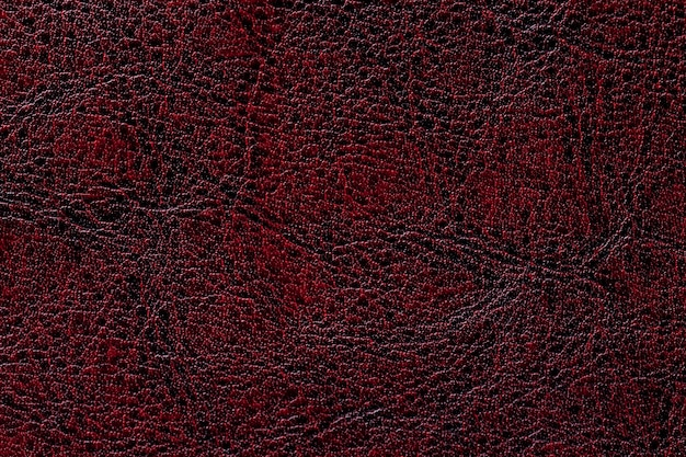 Fondo di cuoio rosso scuro di struttura, primo piano
