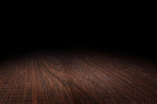 Fondo di legno di prospettiva di struttura del pavimento di marrone scuro per esposizione