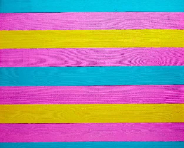 Fondo di legno messicano giallo verde rosa