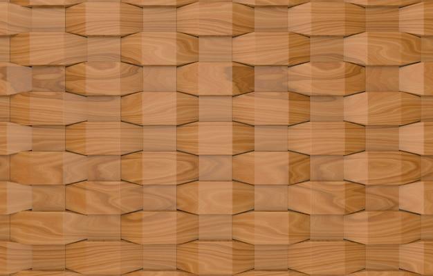 Fondo di parete di piastrelle quadrate di legno moderno tessere
