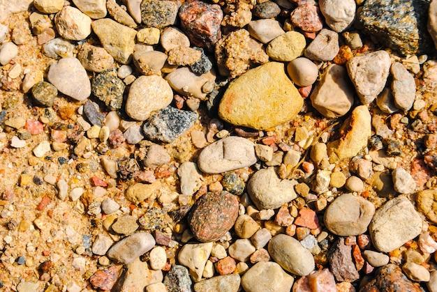 Fondo di pietra, pietra nel parco, struttura del pavimento di pietra