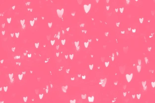 Fondo di rosa del bokeh del cuore, concetto di giorno di s. valentino di amore