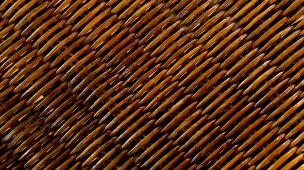 Fondo di struttura del abstarct del modello del tessuto del rattan di brown
