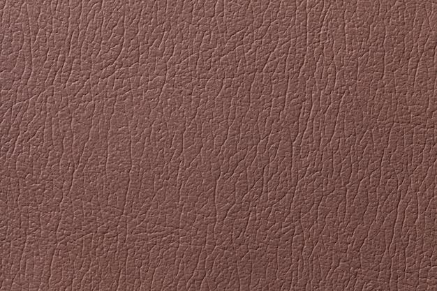 Fondo di struttura del cuoio di brown con il modello, primo piano