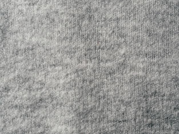 Fondo di struttura del tessuto del maglione grigio