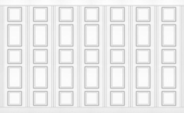 Fondo di struttura della parete di progettazione di legno del modello del quadrato classico bianco di lusso.