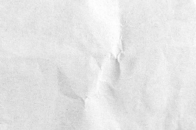 Fondo di struttura di carta sgualcito bianco. avvicinamento.