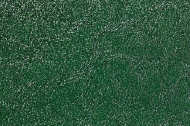 Fondo di struttura di cuoio verde scuro, primo piano. fondale verde smeraldo