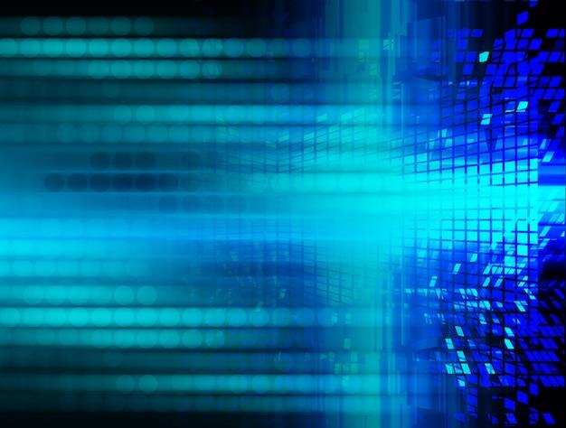 Fondo di tecnologia futura del circuito cyber blu