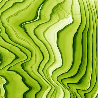 Fondo disegnato a mano astratto dell'inchiostro dell'acquerello o dell'alcool di estate nei toni verdi e gialli. stile alla moda. perfetto per la poligrafia. illustrazione di raster