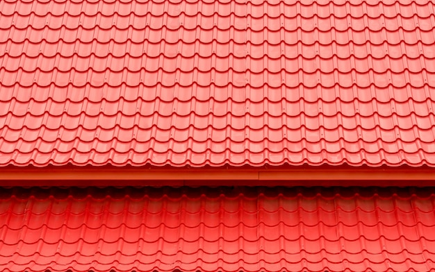Fondo e struttura rossi del tetto