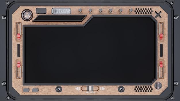 Fondo futuristico del dispositivo della compressa dello schermo d'acciaio