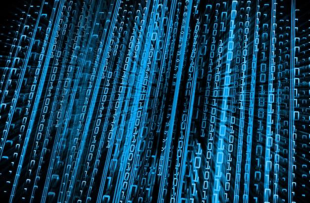 Fondo futuro di concetto di tecnologia del circuito cyber binario blu