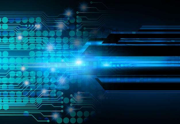 Fondo futuro di concetto di tecnologia del circuito cyber blu