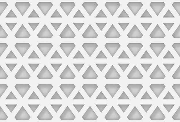 Fondo geometrico esagonale bianco moderno senza cuciture della parete del modello