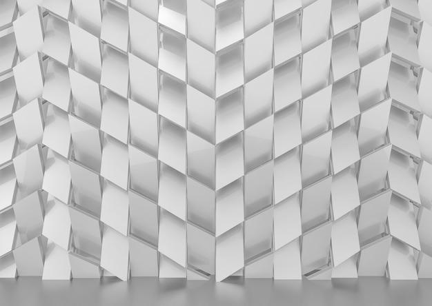 Fondo grigio lussuoso della parete del modello delle mattonelle di forma di trapezzo.
