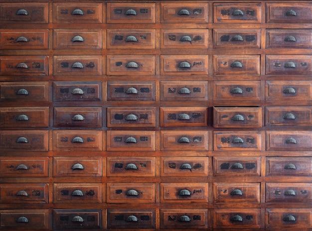 Fondo interno di legno d'annata della mobilia della parete di scaffale