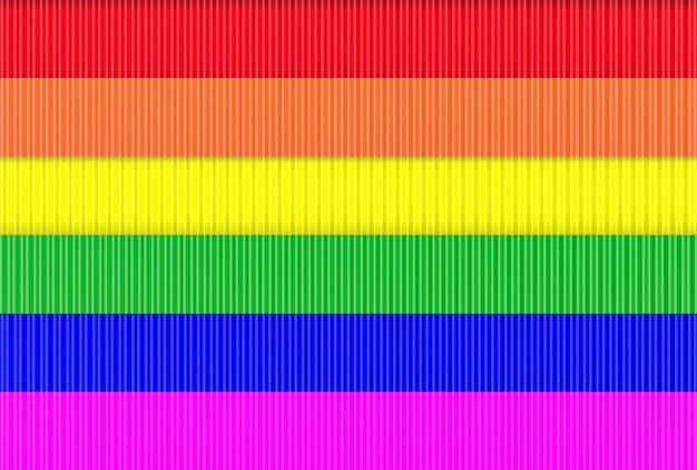 Fondo moderno della parete del metallo della bandiera dell'arcobaleno di lgbt.