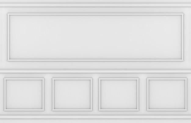 Fondo moderno di progettazione della parete di forma quadrata del modanatura di stile classico d'annata.
