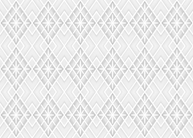 Fondo moderno senza cuciture della parete del modello di griglia quadrata bianca leggera morbida.