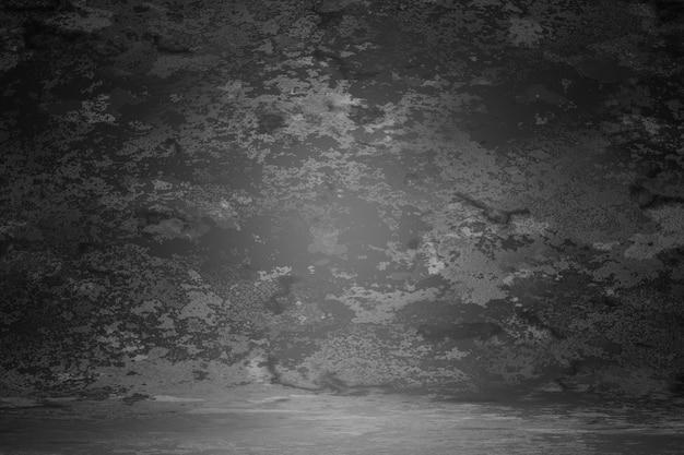 Fondo nero della macchia vago graffio della parete di struttura dell'annata nero scuro