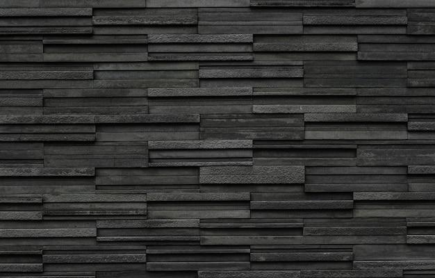 Fondo nero di struttura della parete dell'ardesia del mattone
